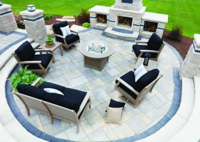 Classic Terrace Set - Weatherwood with Canvas Black Cushions