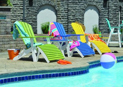 Comfo Back Folding Adirondack Chair and Folding Footstool (open)